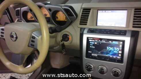 Nissan Murano. Radio doble din Pioneer AVH-4400BT. STS Auto
